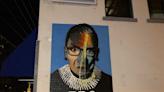 Artists repair vandalized Ruth Bader Ginsburg mural