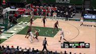 Jrue Holiday with a buzzer beater vs the Atlanta Hawks