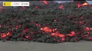 Lava Flows From La Palma Volcano One Month After First Eruption