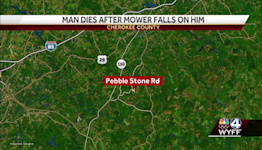 Man killed after he overturned his mower into a creek in Cherokee County, coroner says