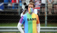 Motor racing-Vettel and three others reprimanded for not removing LGBTQ+ rights t-shirts before anthem