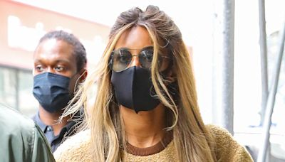 Ciara's Leather Leggings, Buzzy Sweatshirt & Combat Boots Master Spring Trends