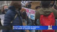 Hundreds March In Boston Demanding Justice For Daunte Wright's Death
