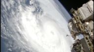 Hurricane Zeta seen from the International Space Station