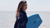 Miss England contestant breaks convention by wearing wetsuit
