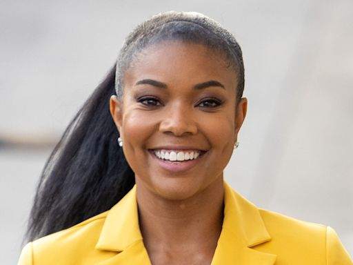 Gabrielle Union Brings Back 2000s R&B in Leather Crop Top, Jogger Jeans & Big Toe Sandals