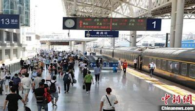 大陸中秋連假四天 鐵路估疏運旅客4千萬