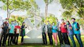 明基基金會捐贈國際雕塑作品 鄭文燦:點綴桃園藝文特區提升城市藝術能量
