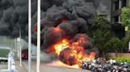 信義豪宅旁爆詭異自燃! 32機車全毀「已排除縱火可能」