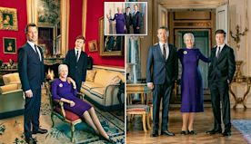 Queen Margrethe of Denmark poses with son in newly released portraits