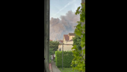 Large Fire Breaks Out at Warehouse in Paris Suburb