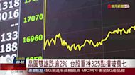 晶圓雙雄跌逾2% 台股重挫352點摜破萬七