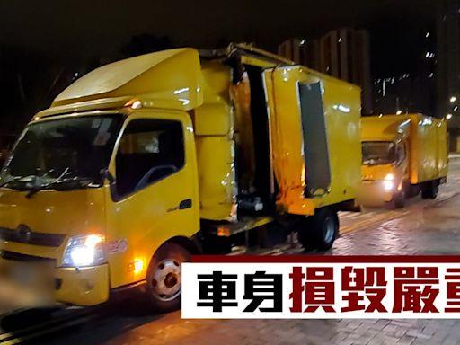 交通意外|兩工程車黃大仙廟對開相撞 3人輕傷拒送院