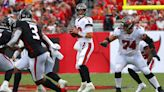 Sunday's NFL: Tom Brady passes for 5 TDs, Buccaneers beat Falcons again