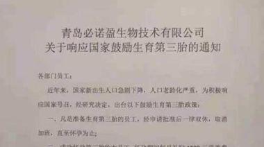 中國催生三孩…公司獎10萬、銀行貸30萬