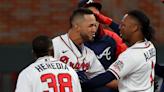 Braves vs. Dodgers score: Atlanta takes 2-0 NLCS lead as Eddie Rosario's walk-off caps comeback win