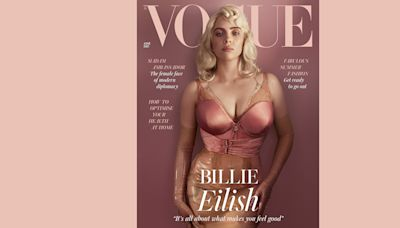Billie Eilish transforms into the epitome of old Hollywood glamour for Vogue cover