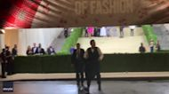 Jimmy Fallon Climbs Over Barricade to Greet Fans at Met Gala