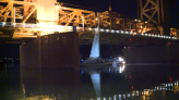 Man allegedly stole California family's sailboat before getting it stuck under bridge