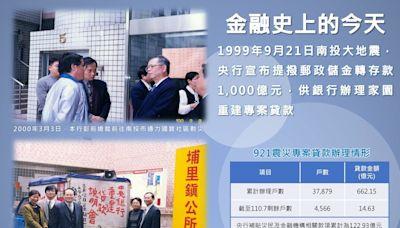 921大地震22周年 央行感性PO彭淮南親自勘災珍貴歷史照