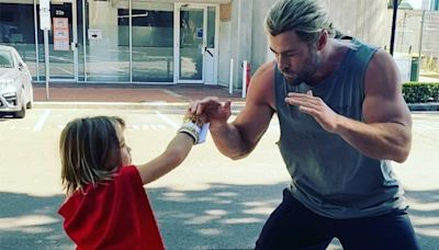 Thor Jr.! Chris Hemsworth's Son, 7, Shows Off His Fighting Skills: 'Next Heavy Weight Champion'