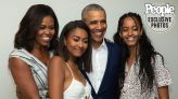The Obamas Share Rare Family Photo as Barack Says Sasha and Malia Have Bonded as 'Great Friends'