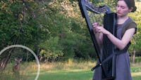 A Woman's Harp Session Turned Into A Magical Fairy Tale