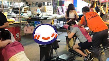 VIP貴賓趴夜市按摩椅「準備鬆一下」 熟客笑翻:牠是店裡公關
