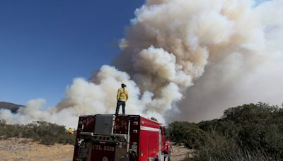 Strong winds across California mean a risk of fire and power shutoffs