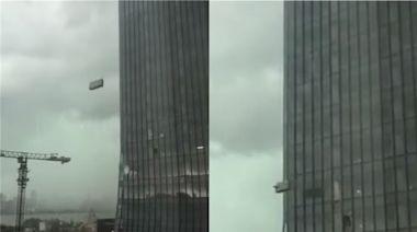 2工人高樓洗窗!下秒遭遇10級強風 「吊籃狂撞牆」慘死