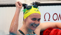 Olympics-Swimming-Titmus beats Ledecky, 'Re-Peaty' gold for Britain