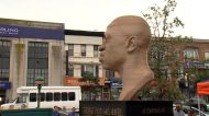Repaired bust of George Floyd unveiled after spray-painted by vandals