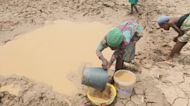 People in northern Ghana struggle to find water amid drought