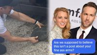 Blake Lively Trolls Ryan Reynolds for Posting Thirst Trap of His Arm Muscles