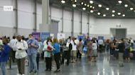 Job fair underway at convention center