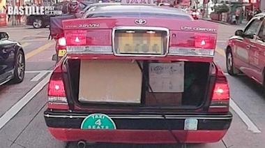 車尾箱跌包裹的士揚長而去 好心司機拾獲交失主 | 社會事