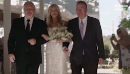 Father halts bride's walk down the aisle for amazing reason
