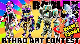 ROBLOX NEWS: Rthro Art Contest Is Back - Winners Get $500 CASH!