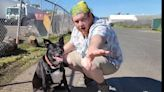 'One step at a time': Highlands man, his dog walking across the country to help homeless