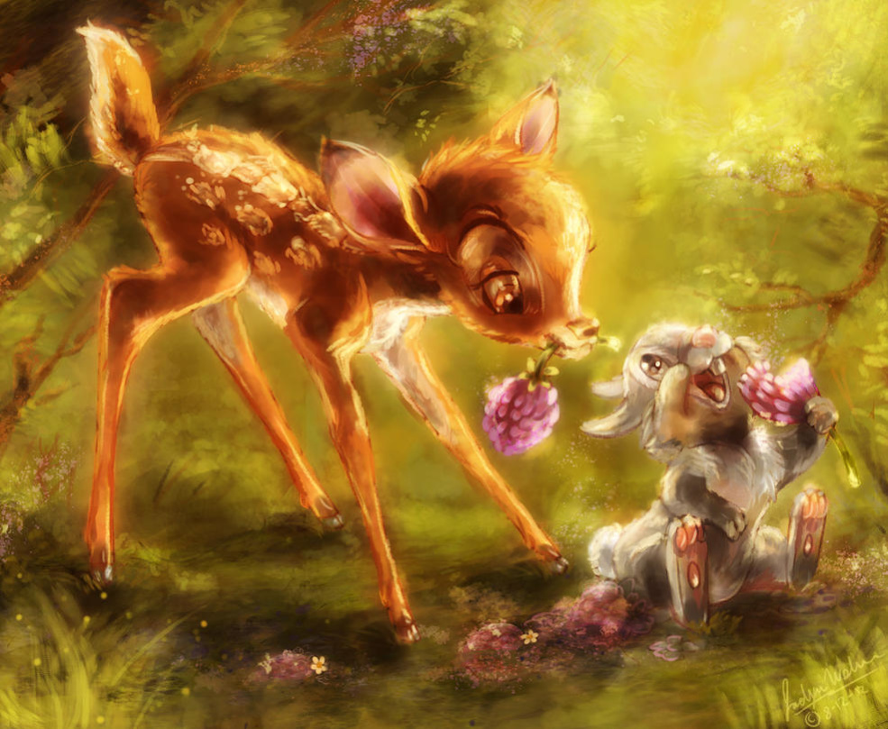 bambi_and_thumper_coloring_page_by_misty
