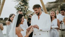 Lucifer 's Inbar Lavi Marries Dan Bar Shira in Bohemian Beach Wedding in Their Native Israel
