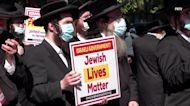 American Orthodox Jews protest Israeli government's persecution of rabbi