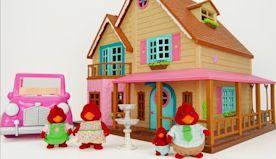 Kids, let's Learn Common Words with Woodzeez Toy Dollhouse!