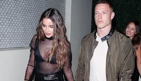 Olivia Culpo's BF Christian McCaffrey Helps Her Squeeze Into Her Tight Leather Pants In Cute Video