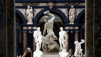 Fine art and face masks: London's Victoria and Albert Museum reopens