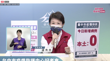 因應27日起降級 盧秀燕推「台中振興經濟大補帖」