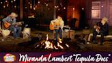 "Watch Miranda Lambert, Jack Ingram, & Jon Randall Play An Acoustic Campfire ""Tequila Does"" At The CMT Awards"