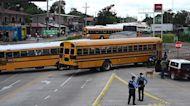Bus drivers block Honduran streets to demand Covid-19 subsidy