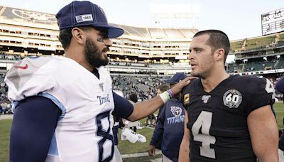 NFL odds: How Raiders' Marcus Mariota could hurt Derek Carr prop bets