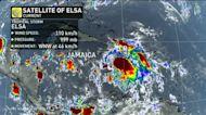 Elsa tracks through the Caribbean as a tropical storm